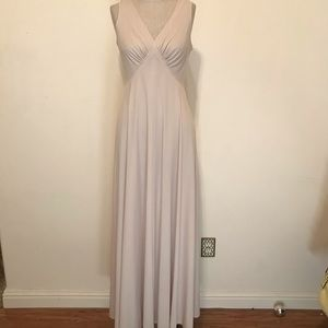 Vintage 70's Taupe Maxi Dress